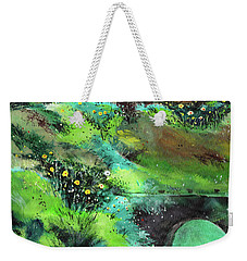 Weekender Tote Bag featuring the painting Connect by Anil Nene