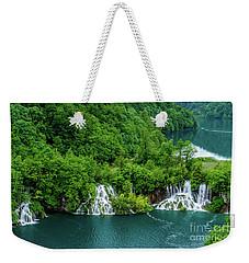 Connected By Waterfalls - Plitvice Lakes National Park, Croatia Weekender Tote Bag