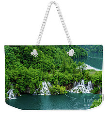 Connected By Waterfalls - Plitvice Lakes National Park, Croatia Weekender Tote Bag