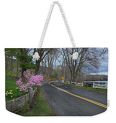 Weekender Tote Bag featuring the photograph Connecticut Country Road by Bill Wakeley