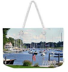 Connecticut Harbor Town Weekender Tote Bag