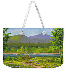Weekender Tote Bag featuring the painting Connecticut River Spring by Frank Wilson