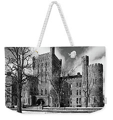 Weekender Tote Bag featuring the photograph Connecticut Street Armory 3997b by Guy Whiteley