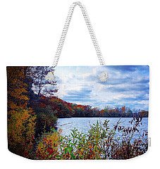 Conservation Park And Pine River In The Fall Weekender Tote Bag