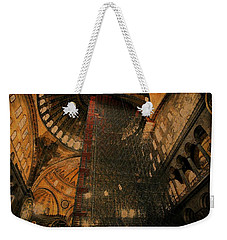 Weekender Tote Bag featuring the photograph Construction - Hagia Sophia by Jim Vance
