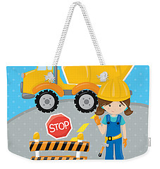 Construction Zone - Concrete Truck Roadwork In Progress Gifts #16 Weekender Tote Bag