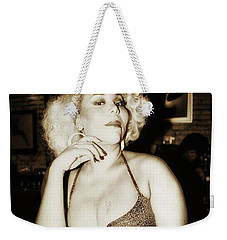Weekender Tote Bag featuring the photograph Consuela Del Rio. Drag Mother At The by Mr Photojimsf