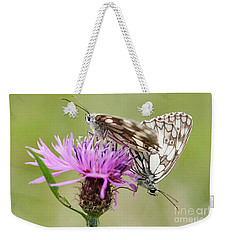 Contact - Butterflies On The Bloom Weekender Tote Bag by Michal Boubin