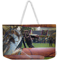 Weekender Tote Bag featuring the photograph Contact by James Barber