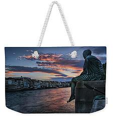 Contemplating Life In Basel Weekender Tote Bag by Carol Japp