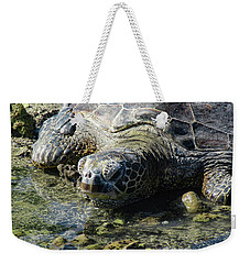 Weekender Tote Bag featuring the photograph Contemplating by Pamela Walton