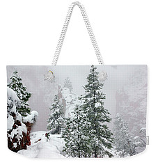 Contemplating The Hike Weekender Tote Bag
