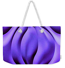 Weekender Tote Bag featuring the photograph Contemplation In Purple by Roberta Byram