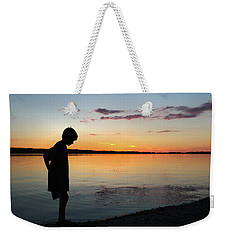 Weekender Tote Bag featuring the photograph Contemplation by Kelly Hazel
