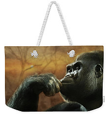 Weekender Tote Bag featuring the photograph Contemplation by Lori Deiter