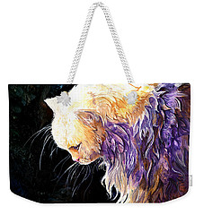 Weekender Tote Bag featuring the painting Contemplation by Sherry Shipley