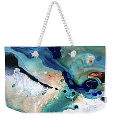 Weekender Tote Bag featuring the painting Contemporary Abstract Art - The Flood - Sharon Cummings by Sharon Cummings