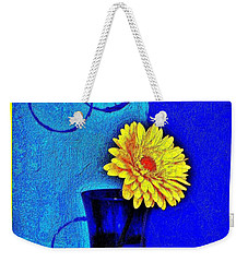 Weekender Tote Bag featuring the photograph Contemporary Gerber by Marsha Heiken