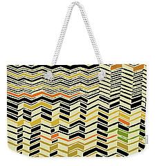 Weekender Tote Bag featuring the digital art Contemporary Kuba Cloth by Vagabond Folk Art - Virginia Vivier