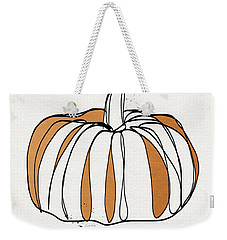 Contemporary Pumpkin- Art By Linda Woods Weekender Tote Bag by Linda Woods