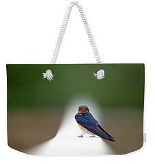 Contemporary Swallow Weekender Tote Bag