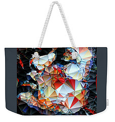Weekender Tote Bag featuring the digital art Content by Rafael Salazar