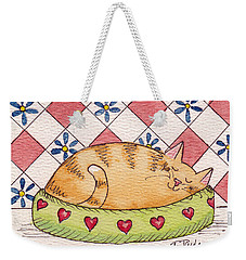 Contented Kitty Weekender Tote Bag by Terry Taylor