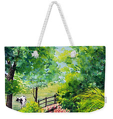 Contentment Weekender Tote Bag by Nancy Cupp