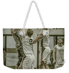 Weekender Tote Bag featuring the photograph Contested by Ronald Santini