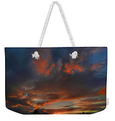 Contorted Sunset Weekender Tote Bag