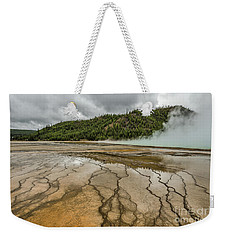 Weekender Tote Bag featuring the photograph Contrasts At Midway Geyser Basin by Sue Smith