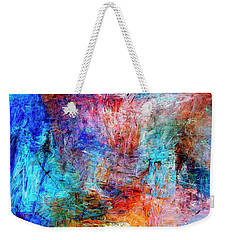 Weekender Tote Bag featuring the painting Convergence by Dominic Piperata