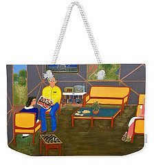 Conversations Collection Weekender Tote Bag