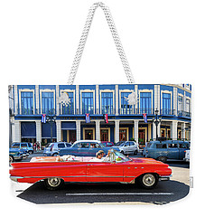 Convertible With Long Tailfins Weekender Tote Bag
