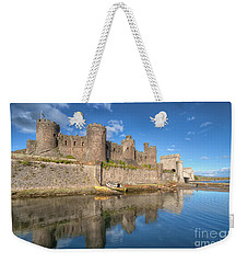 Weekender Tote Bag featuring the photograph Conwy Castle by Adrian Evans