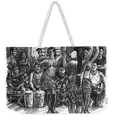 Cook Islands Dance Team At Practice Weekender Tote Bag