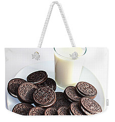 Cookies And Milk Weekender Tote Bag