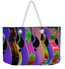 Cool Acoustic Guitars Weekender Tote Bag by Annie Zeno