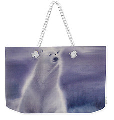 Weekender Tote Bag featuring the painting Cool Bear by Allison Ashton