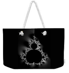 Cool Black And White Mandelbrot Set Weekender Tote Bag