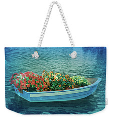 Weekender Tote Bag featuring the photograph Cool Blue Boat Parade by Aimee L Maher Photography and Art Visit ALMGallerydotcom