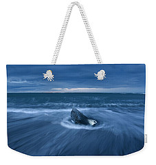 Weekender Tote Bag featuring the photograph Cool Blue by Dustin LeFevre