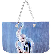 Cool Blue Elephants On The Corner Shelf Weekender Tote Bag