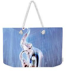 Cool Blue Elephants In The Corner Weekender Tote Bag
