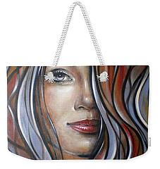 Cool Blue Smile 070709 Weekender Tote Bag by Selena Boron