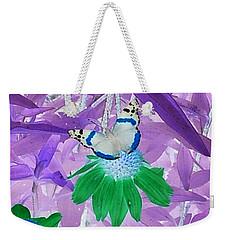 Cool Butterfly In Lavender Leaves Weekender Tote Bag