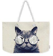 Cool Cat Weekender Tote Bag by Vitor Costa