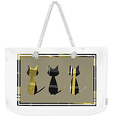 Cool Cats In Tartan Weekender Tote Bag