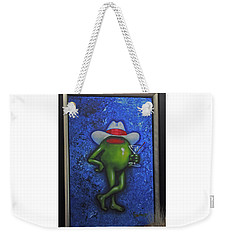 Weekender Tote Bag featuring the photograph Cool Dude-godard by Jay Milo