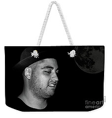 Weekender Tote Bag featuring the photograph Cool Dude Portrait By Kaye Menner by Kaye Menner